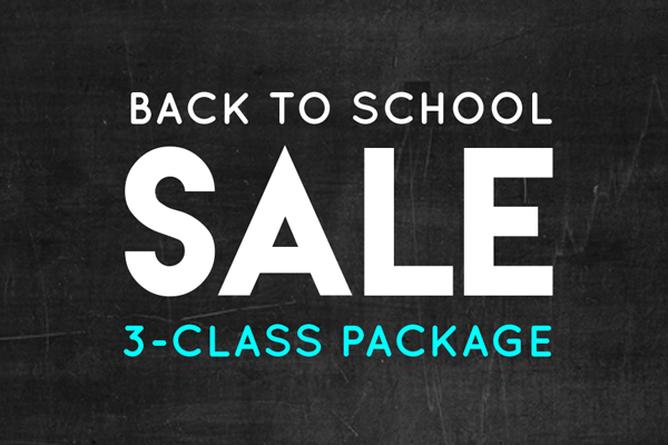 Back to School Sale 3-Class Package