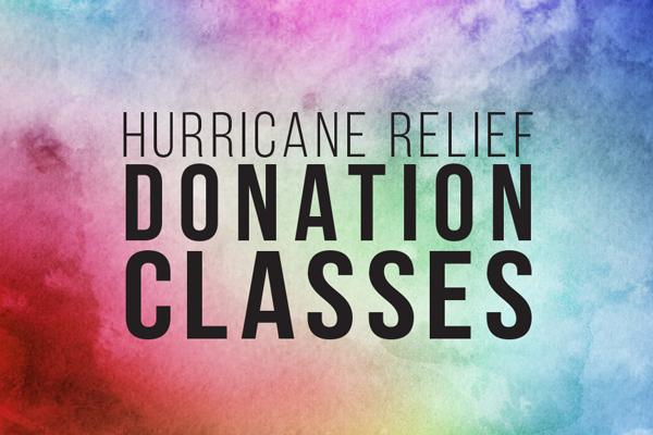 Hurricane Relief Donation Classes